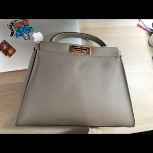 141a92b9ef Fendi Bags - Fendi Peekaboo dove grey medium
